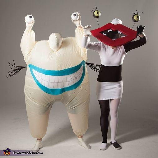 Oblina And Krumm From Ahh Real Monsters Halloween Costume Contest At Costume Works Com Diy Couples Costumes Creative Halloween Costumes Diy Couples Costumes