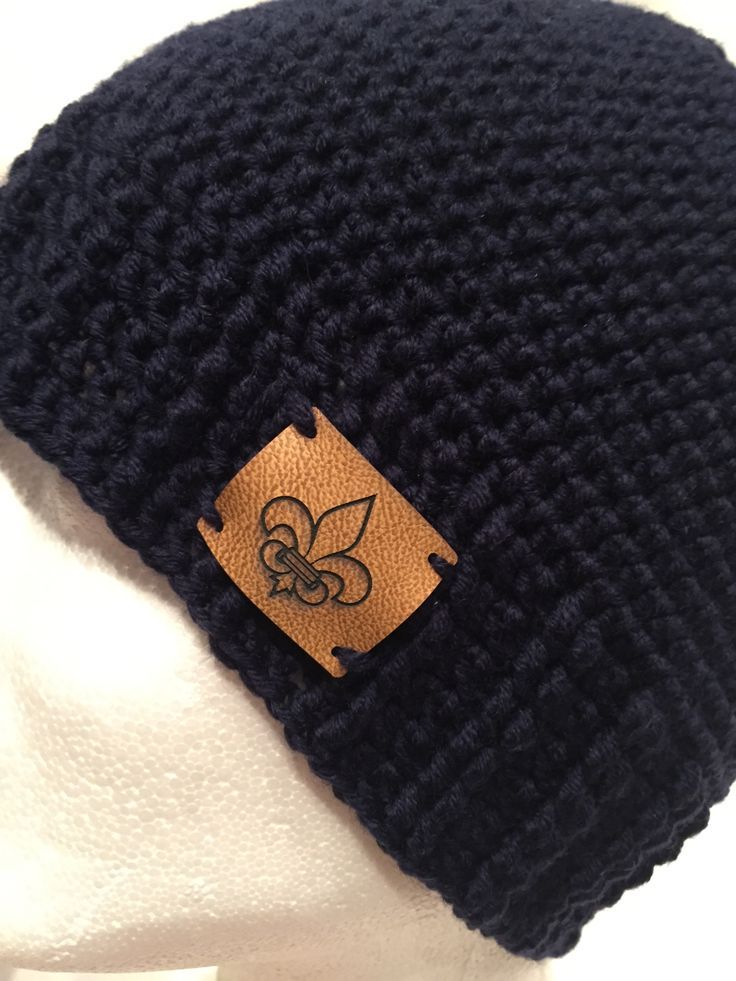 Häkelanleitung einfache Mütze mit Bündchen | Crochet, Knit crochet ...