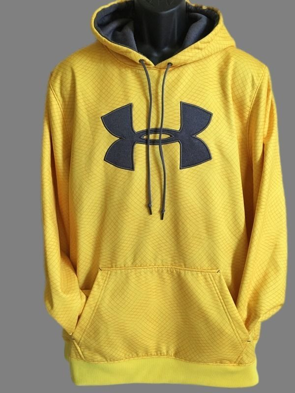 SOLD! Mention this Pin and received $5 off! Message me on eBay for details.  Under Armour Hurley Loose Men's Athletic Pull Over Hoodie Yellow 2XL #UnderArmour #Hoodie