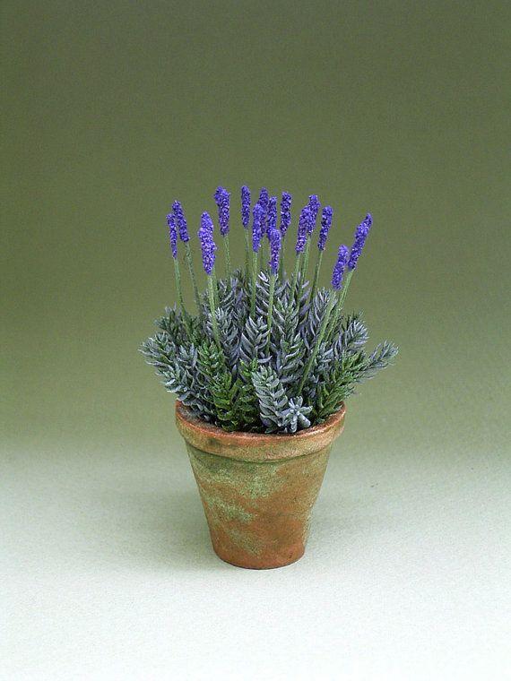 1 12th Scale Lavender Flower Kit For Dollhouses Florists And Etsy Miniature Garden Mini Plants Mediterranean Garden