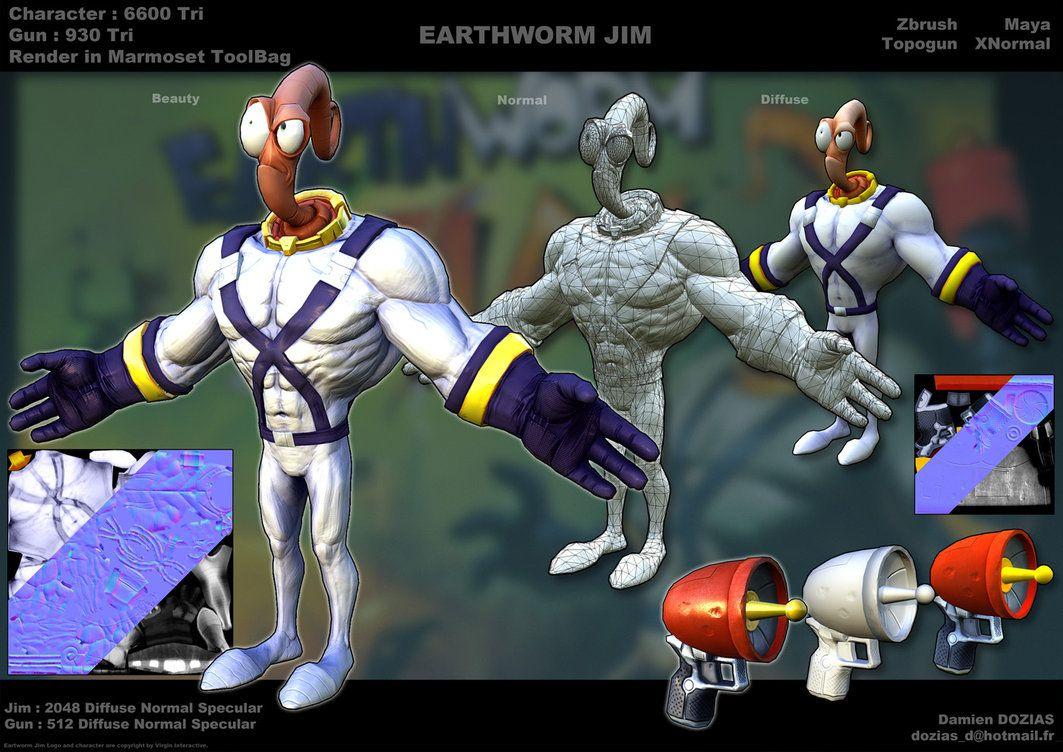 earthworm jim 3d pinterest