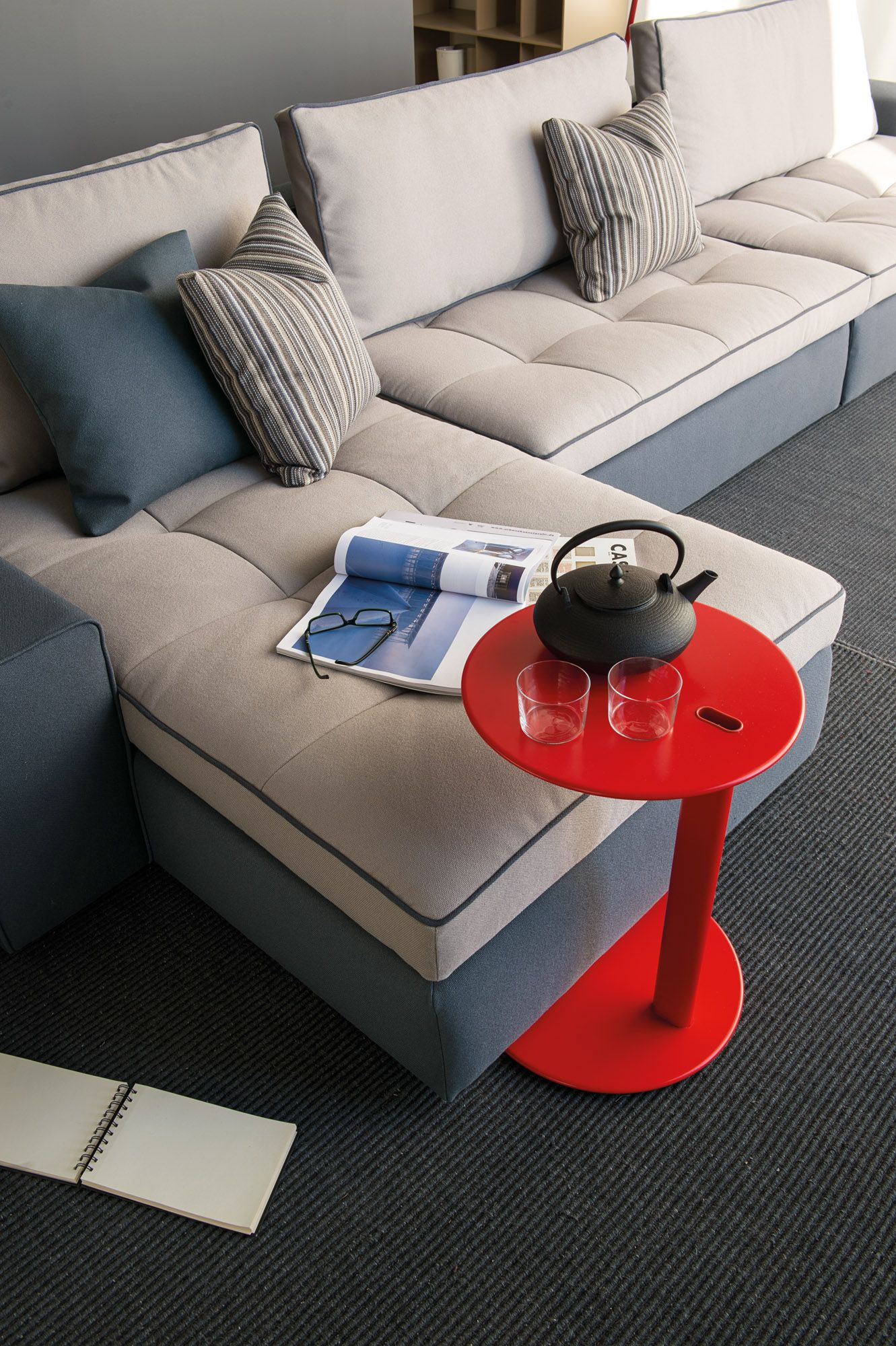 Symbol Coffee Table by Calligaris its smooth rounded top appears to float above its architecturally styled legs ta…