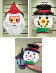 SNOWMAN 2 Outdoor Holiday Porch Light Covers Christmas Winter Porch ...
