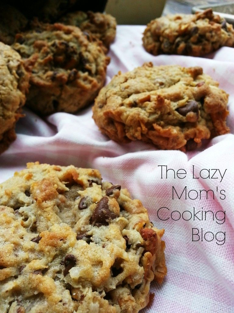 Everything But The Kitchen Sink Cookies The Lazy Mom S Cooking Blog Recipe Kitchen Sink Cookies Easy Cookie Recipes Moms Cooking