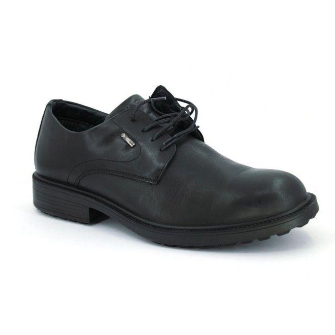 Igi&Co 2721 Zapatos Gore-Tex Cordon Hombre Negro, zapatos con la puntera  redonda y