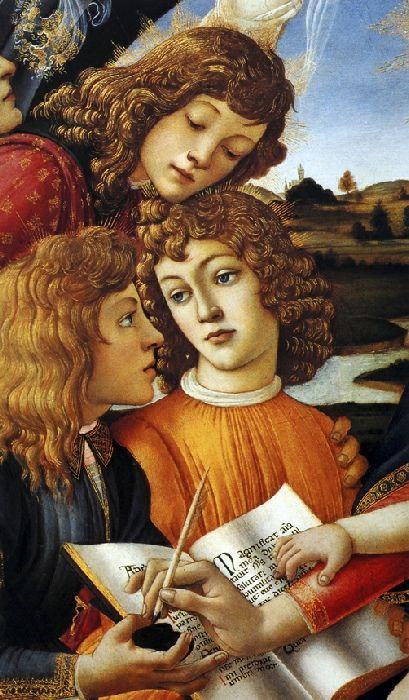 Madonna Of The Magnificat Detail Peinture Renaissance Art De La Renaissance Art Italien