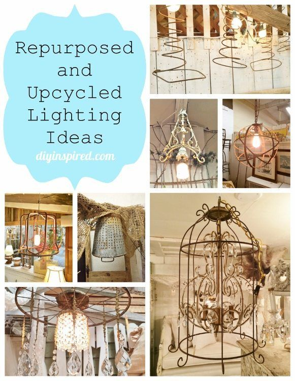 Upcycling And Repurposing Ideas For Lighting Upcycled Lighting Diy Lighting Repurposed