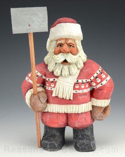 Santa Claus with Snow Shovel
