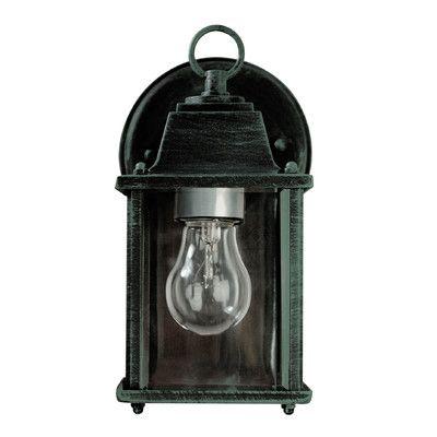 Transglobe Lighting 1 Light Outdoor Wall Lantern Finish Verde