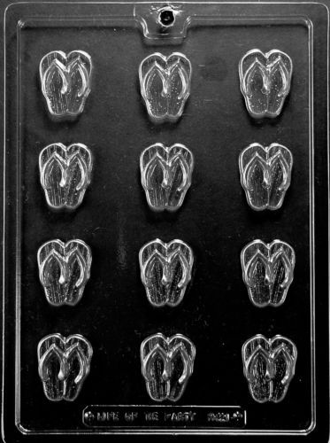 da702fa09 Small BS Flip Flops Mold Chocolate Candy Molds Party Pieces Thongs Summer