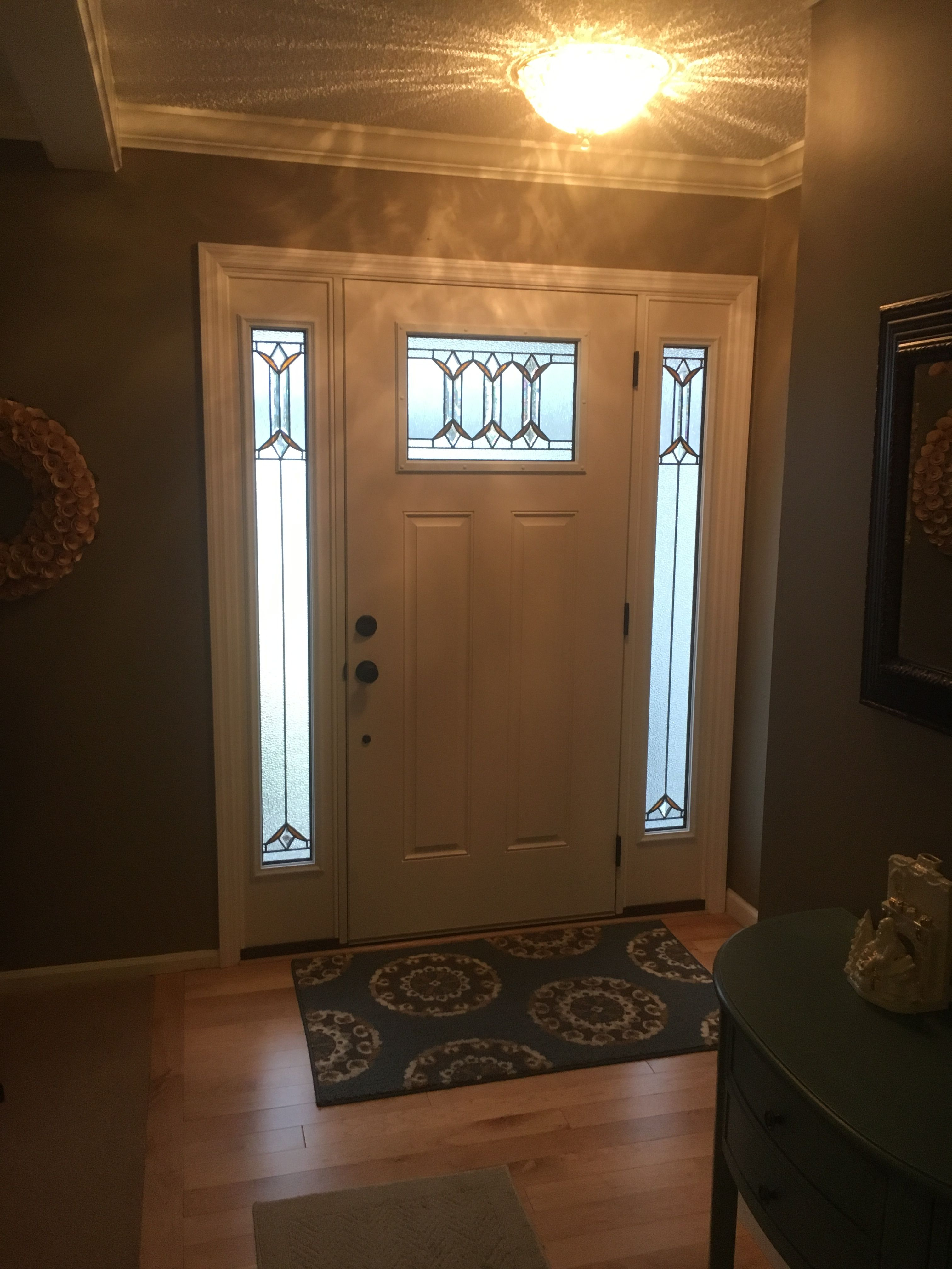 Lowes Park Hill Entry Door Fiberglass Exterior Doors Exterior Doors Fiberglass Door National door company zfs686blfs28l fiberglass smooth, primed, left hand inswing, exterior prehung door, clear glass internal blinds, full lite, 32x80. lowes park hill entry door fiberglass