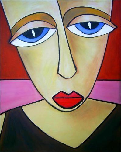 Acrylbild 'Ana' - Angelika Rump