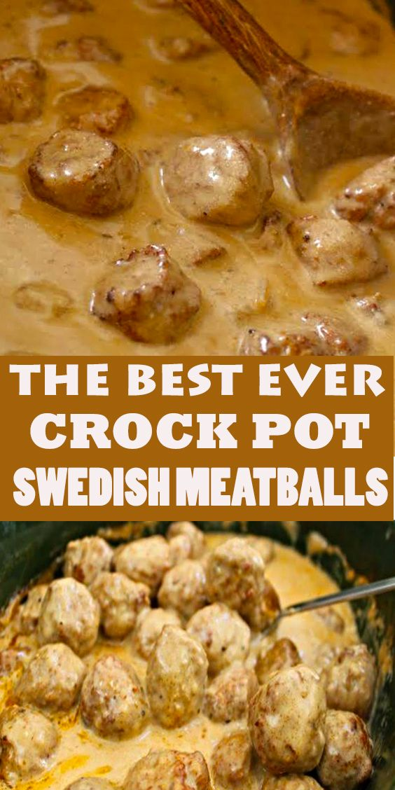 CROCK POT SWEDISH MEATBALLS #healthycrockpots