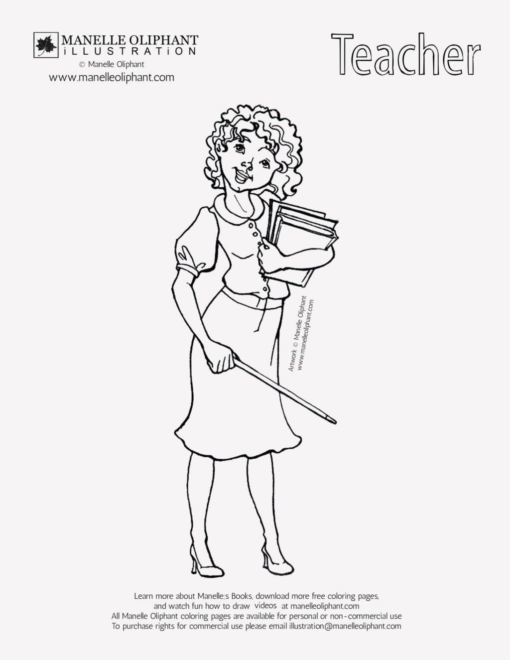 15 Printable Coloring Pages For Teachers In