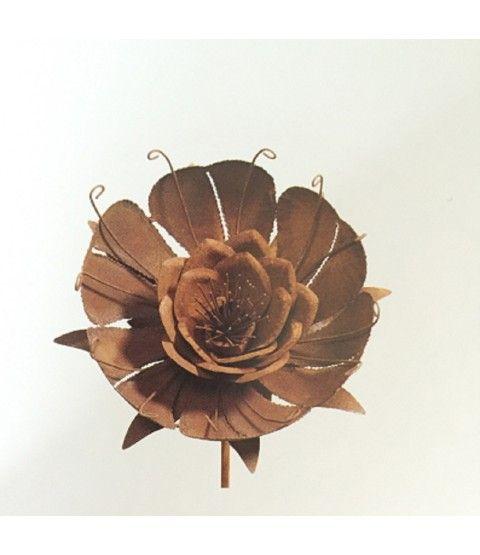 Blumen Gartendeko Metall Rost Edelrost Gartenstecker