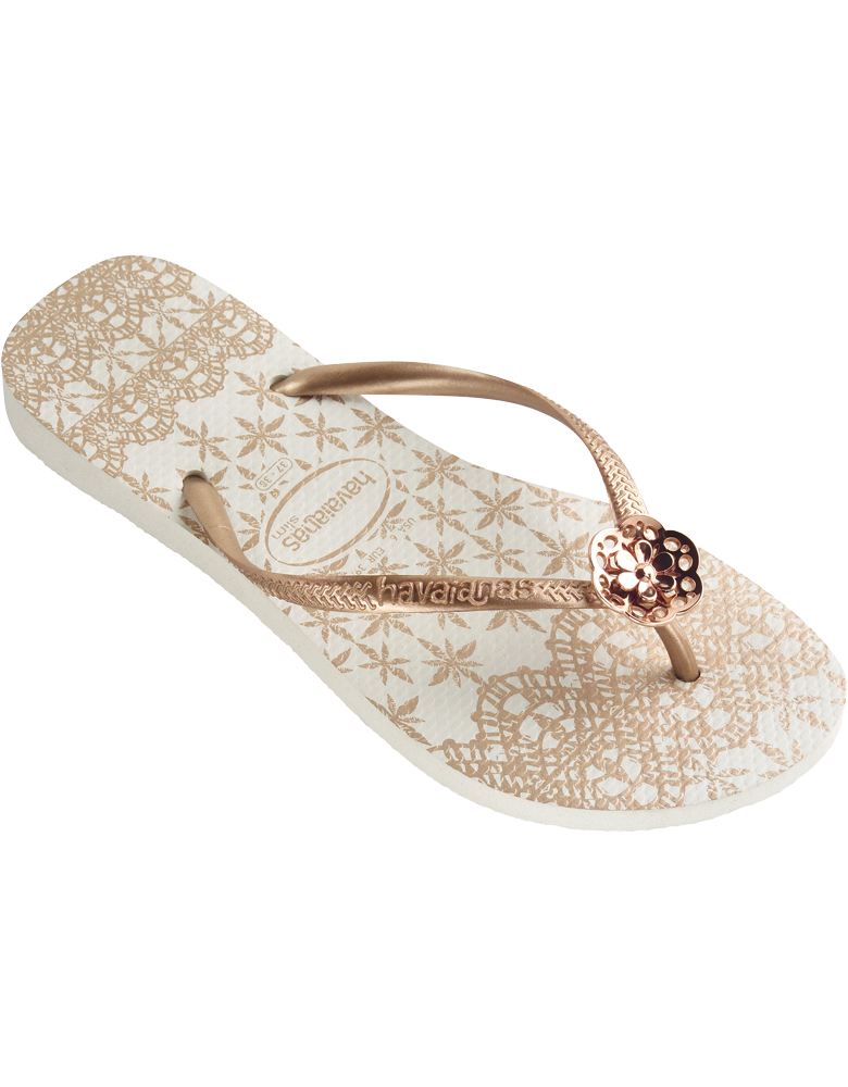 261f85e90408 These would be pretty with Swarovski on the flower Havaianas Slim Lace - us. havaianas.com
