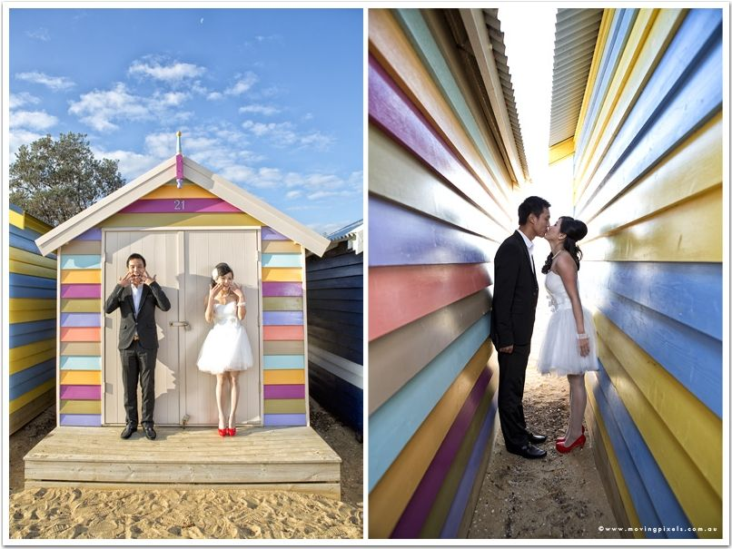 Wedding Photographer Melbourne Brighton Beach Box