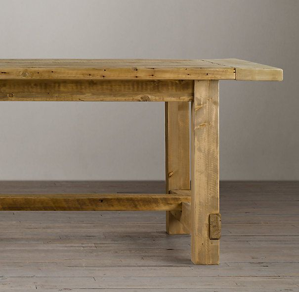 RHu0027s Salvaged Wood Farmhouse Rectangular Extension Dining Table:A Perennial  Classic, Our Farmhouse Table Evokes The Clean Lined Parsons Style And Is ...