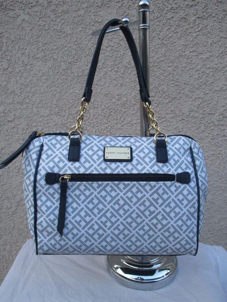 Tommy Hilfiger Blue Handbag Purse Authentic Brand New Tags Satchel 6939073  100  TommyHilfiger  Satchel c9382ef0be22a