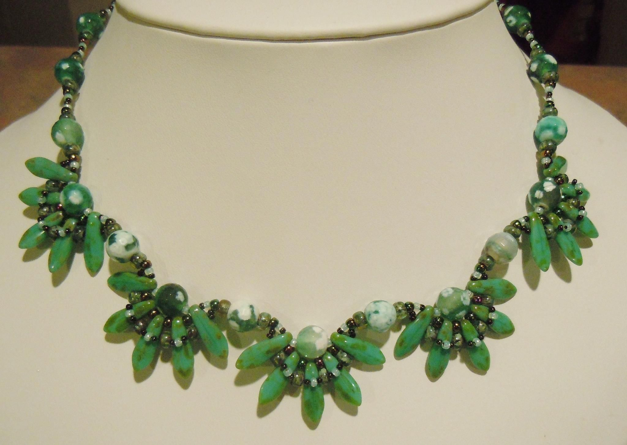 2 hole dagger beads necklace - TrendSetter, Marcia Balonis