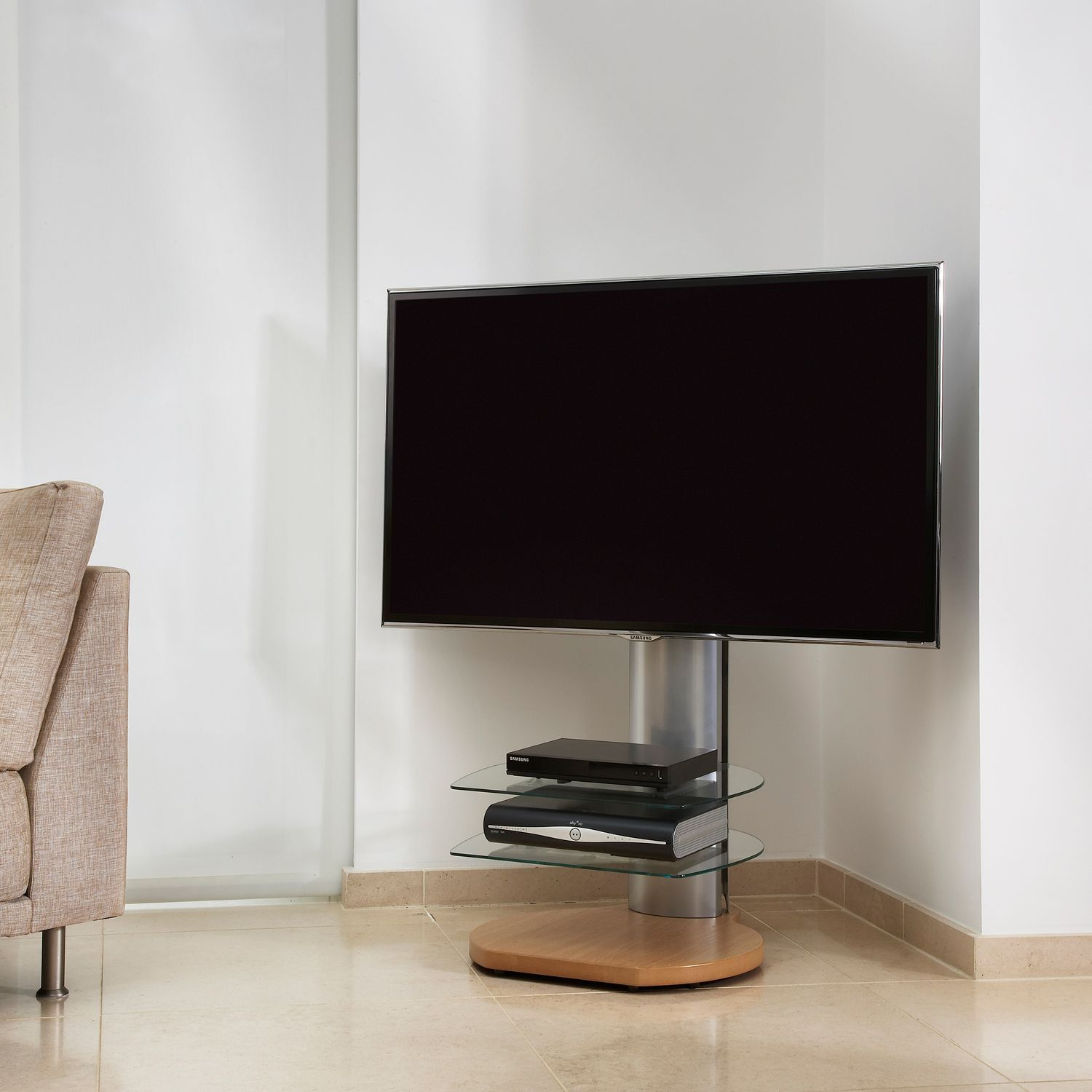 Off The Wall Origin Ii S4 Stand For Tvs Up To 55 With Sound Bar