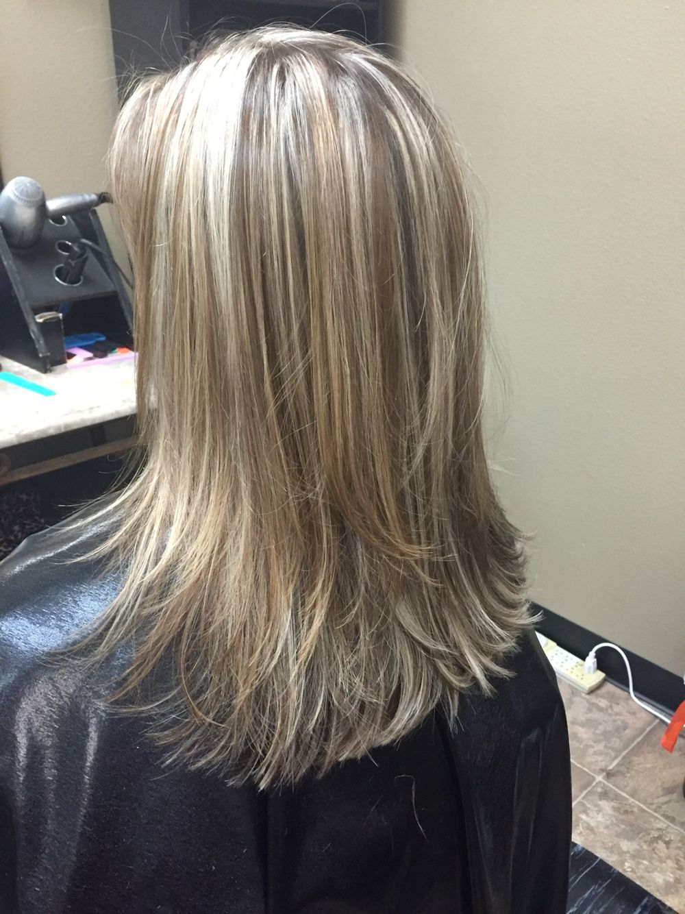 Blonde Highlights With Neutral Brown Lowlights For Contrast Medium