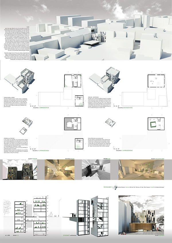 Presentation of the Diploma Project BiKuM on three A0
