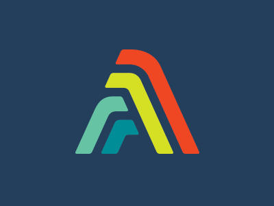 A-nother-a logo with sick colours.