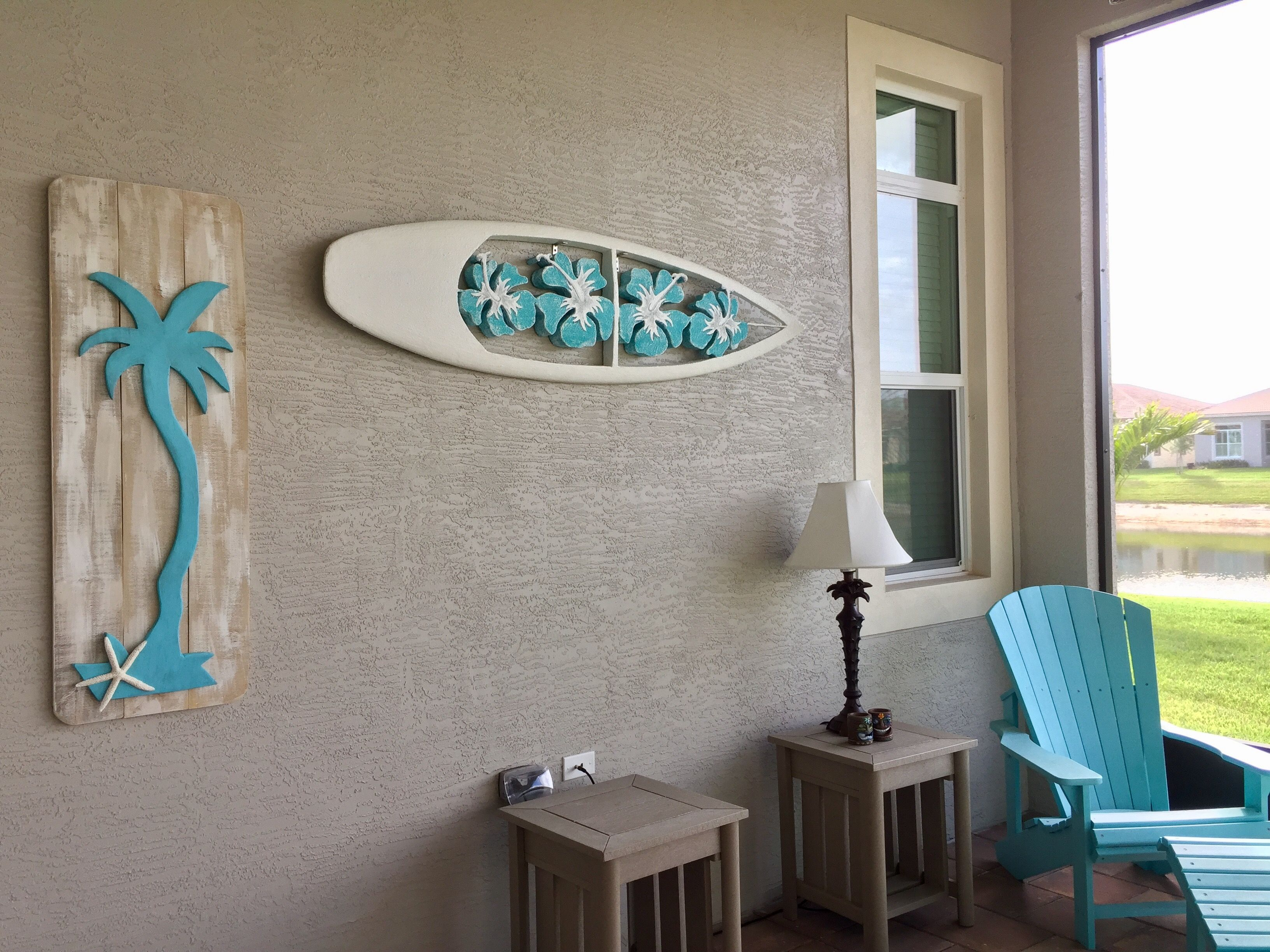 Decorating Our Lanai With Coastal Tropical Wall Art Lanai Decorating Beach Room Decor