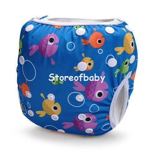 Heavy Blue Storeofbaby Children Swimwear Swimming Trunks for Baby Adjustable Infant 0 3 Years