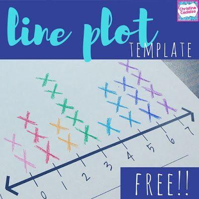 Free Line Plot Template Classroom Freebies Free Math Fourth Grade Math Upper Elementary Math