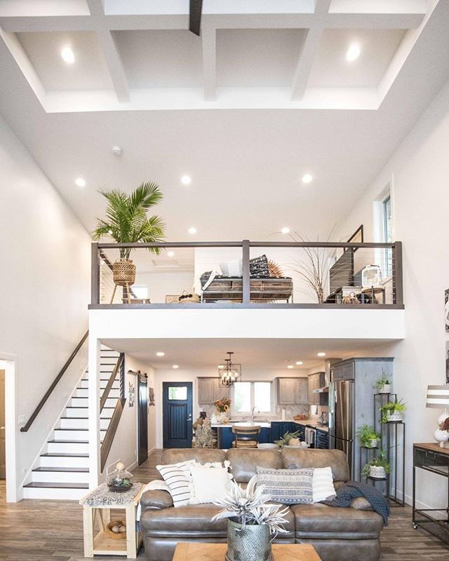 Give Me A Loft An Open Floor Plan And Big Windows With A Lake View Anyday This Home M House Plan With Loft Modern House Plans Open Floor Open Plan Apartment