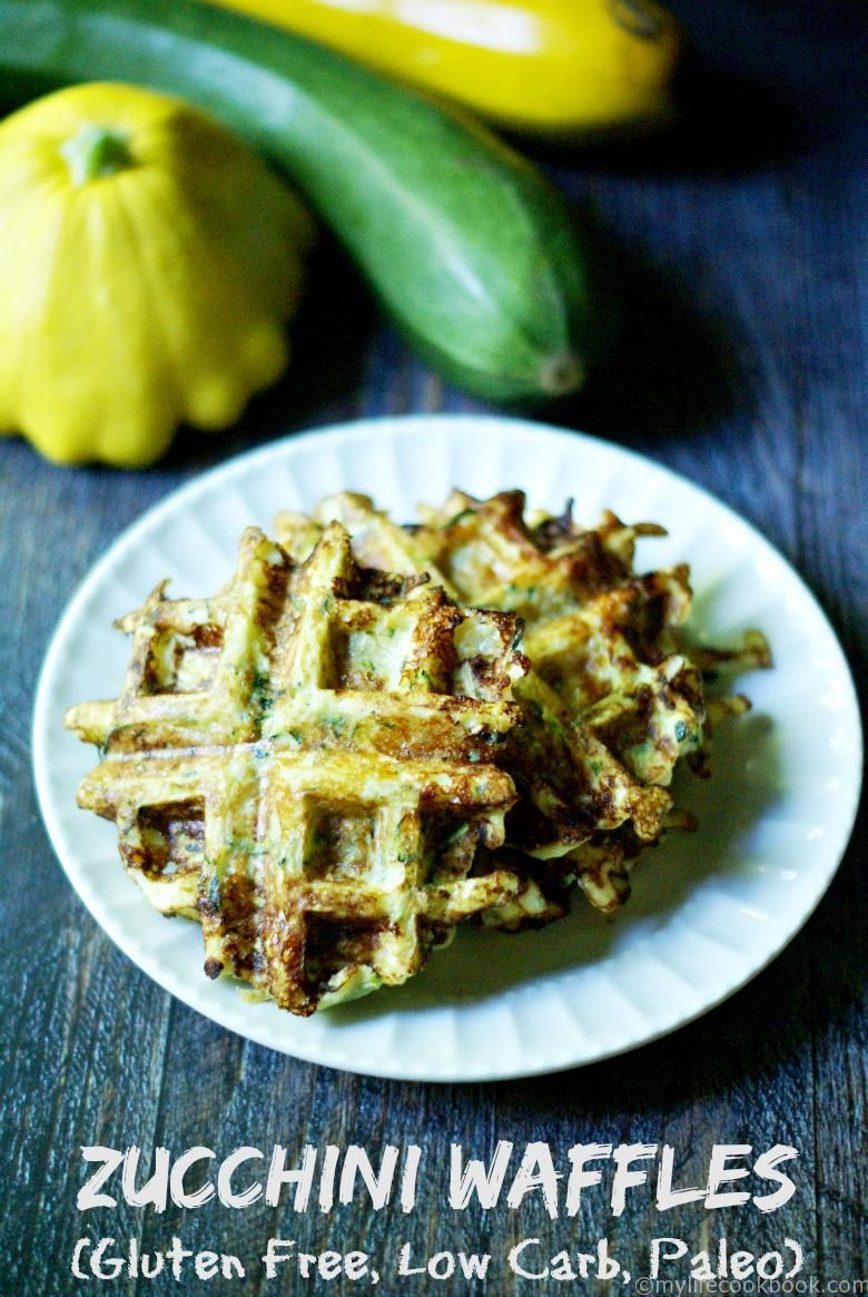 Zucchini Waffles (GF, low carb) These savory Zucchini Waffles are low carb, Paleo, and gluten free. Great for breakfast or even a snack!These savory Zucchini Waffles are low carb, Paleo, and gluten free. Great for breakfast or even a snack!
