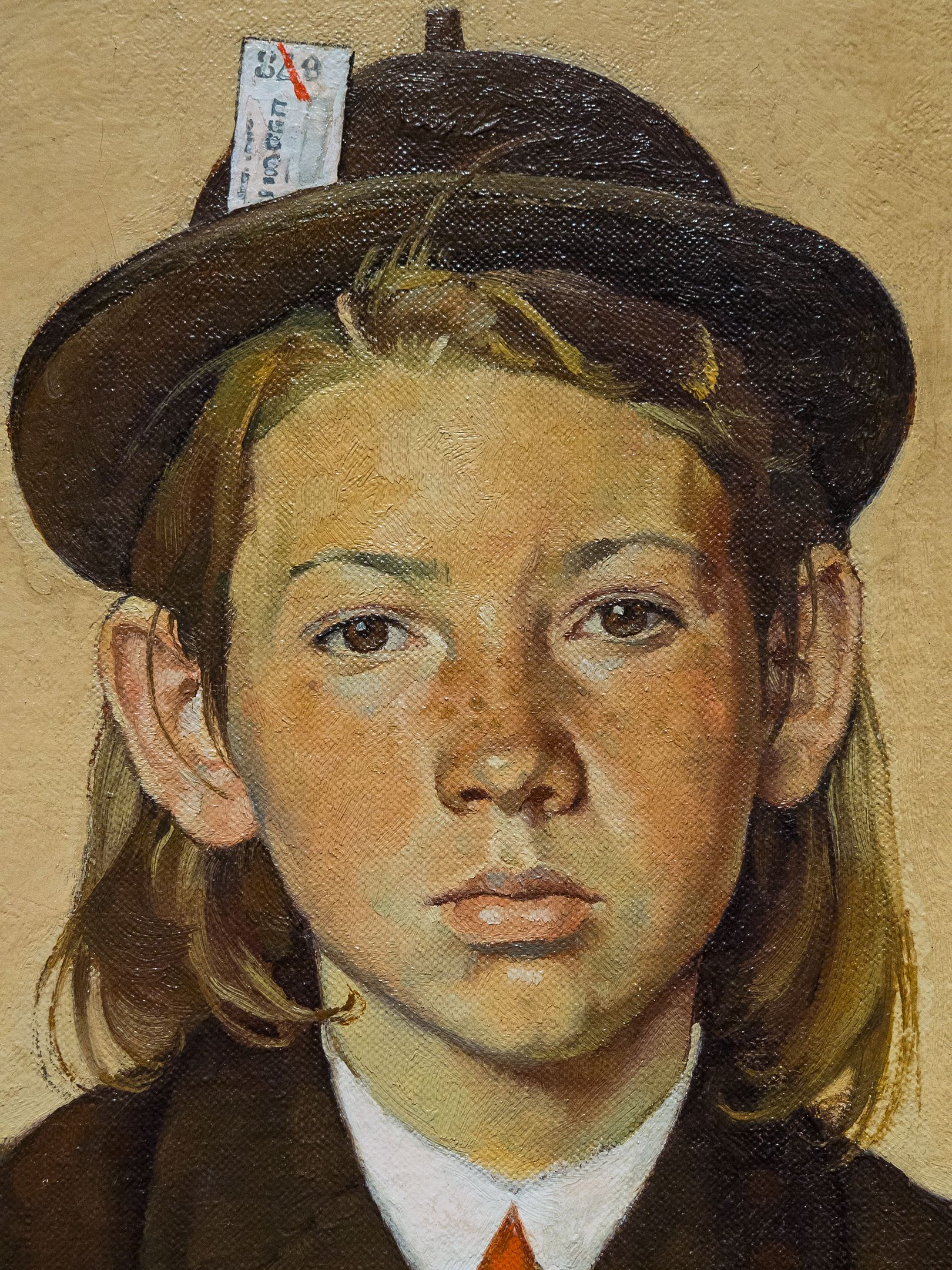 Girl Returning From Camp By Norman Rockwell 1940 Close Up