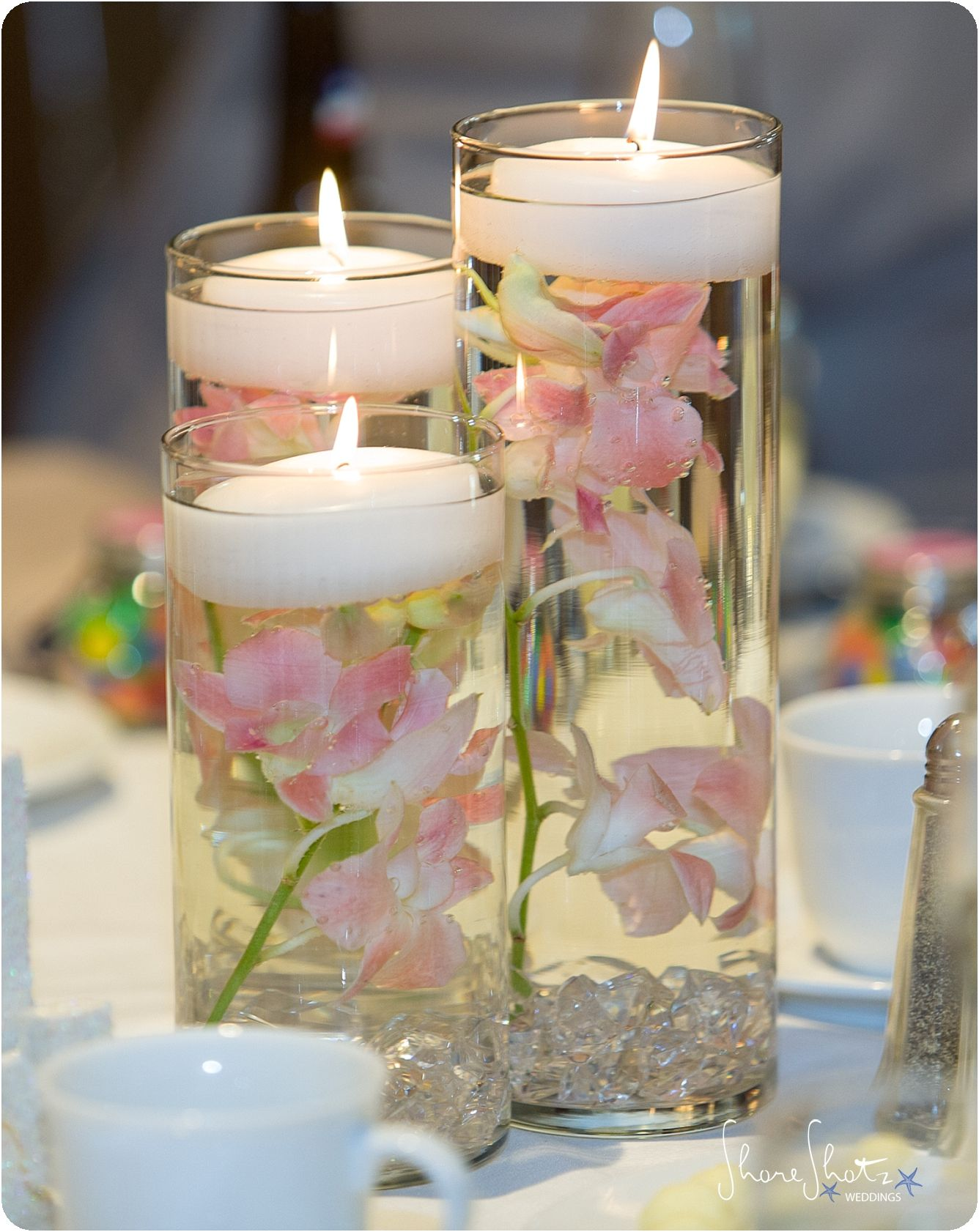 Floating Orchid Candle Centerpiece