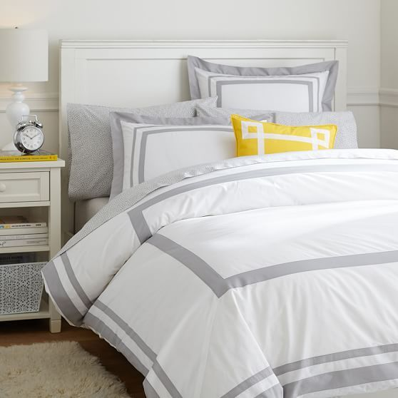 Your Organic Bedroom: Suite Organic Duvet Cover, Twin/Twin XL, Light Gray In