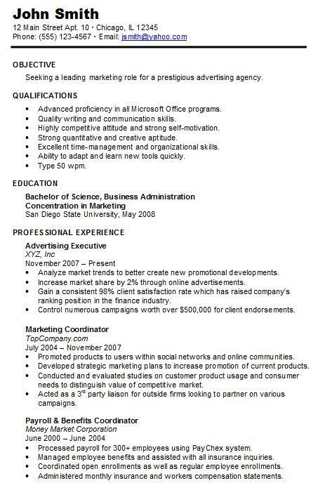 Chronological Resume Sample Hire Me 101 Chronological Resume Template Chronological Resume Job Resume Samples