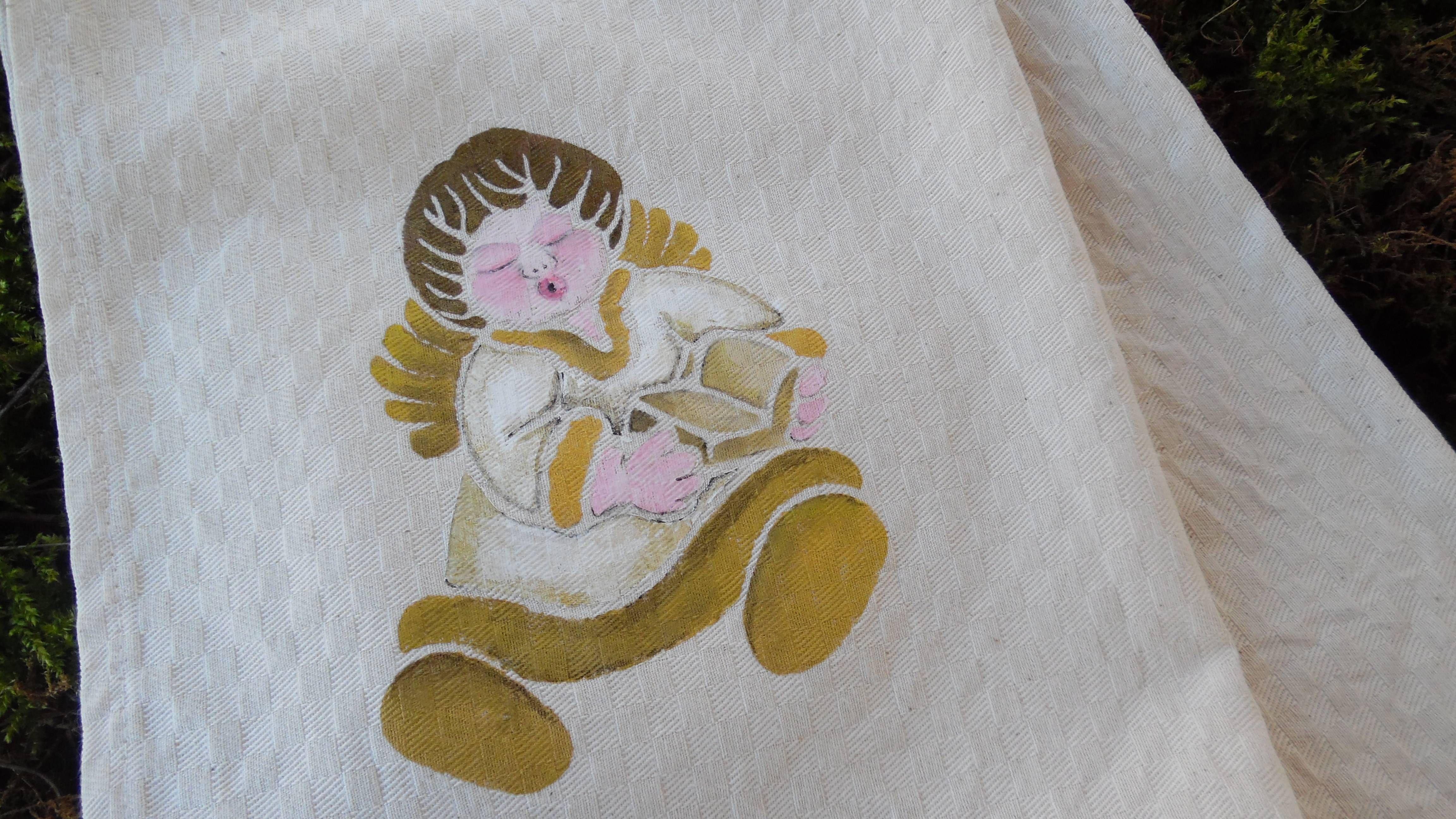 Angioletto Thun Dipinto Su Stoffa Pittura Su Stoffa Tableware
