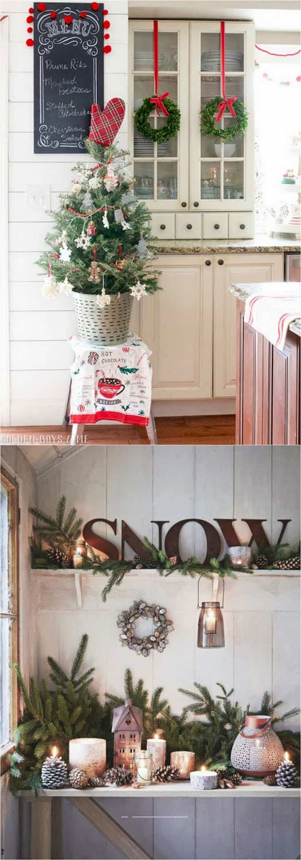 41 favorite christmas decorating ideas for every room in your home 26 farmhouse christmas on kitchen xmas decor id=38804