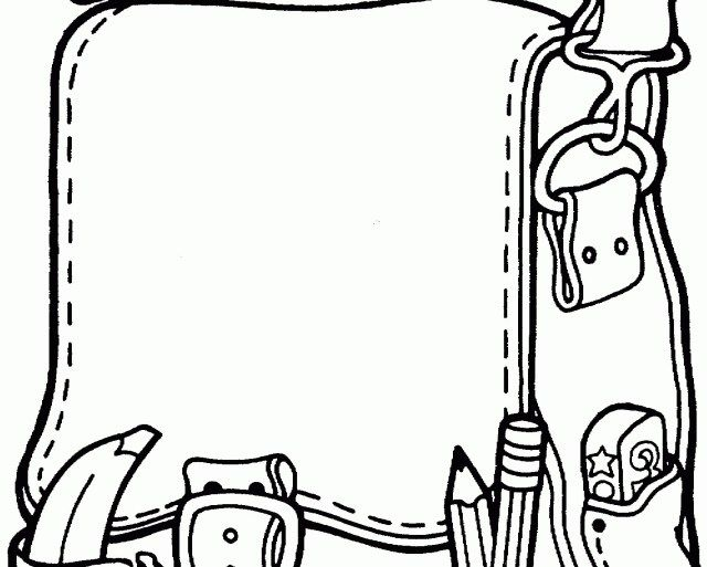 Beautiful Photo Of Backpack Coloring Page Coloring Pages