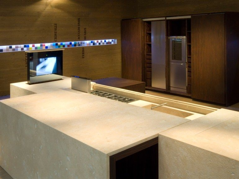 Hideaway kitchen with island PETRA - TM Italia Cucine by www ...