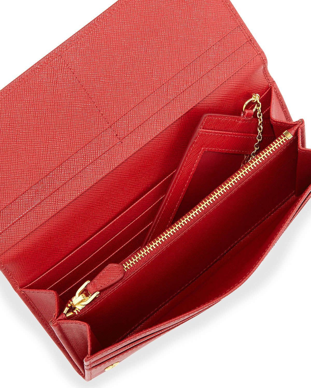 7aa131526c46 Saffiano Continental Flap Wallet