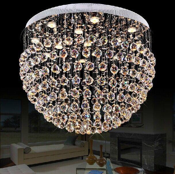 Pas cher cristal lustre salon lustre lustre de cristal d80 gu10 led kroonluchter k9 lustres de luxe lustres acheter lustres de qualité directement des