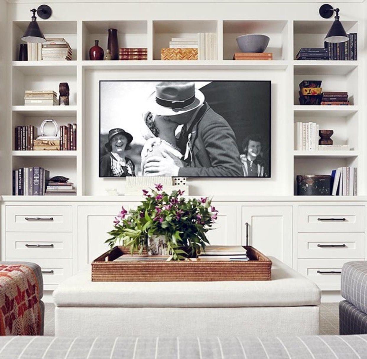 Burnham Design Living Room Built Ins Family Room De