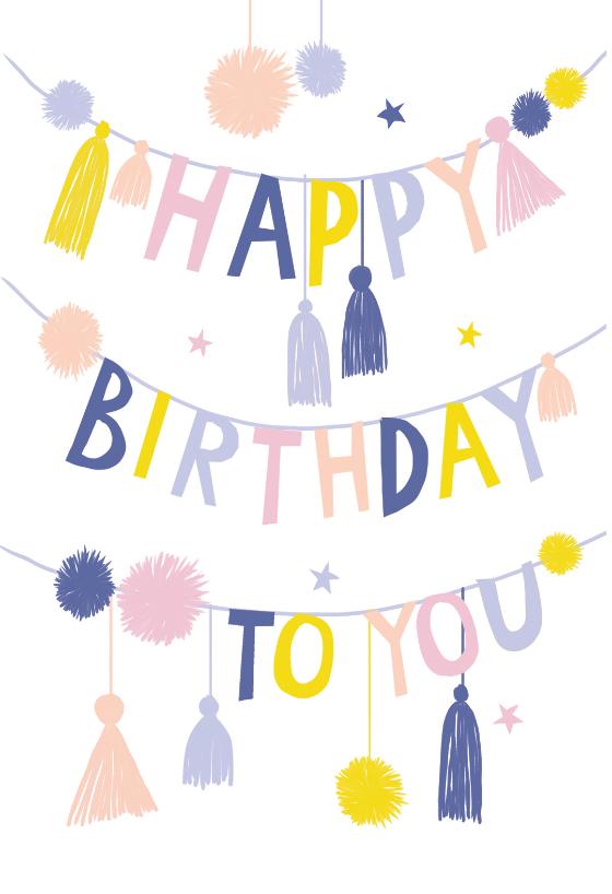 Bunting Birthday Card Free Greetings Island Free Birthday Card Free Printable Birthday Cards Christmas Cards Free