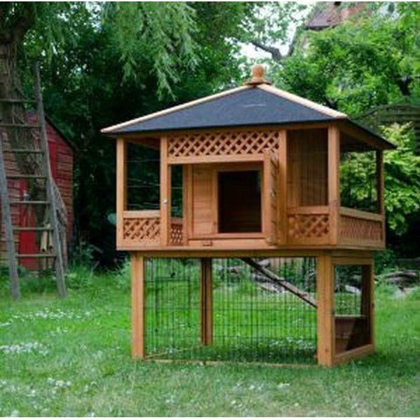 Rabbit Hutch Patio Paa Ious Pet Garden Home Wooden Cage Outdoor Coop New Would Love To Build One For Phillee