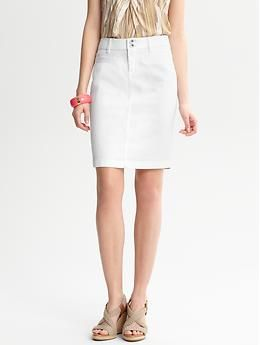 2848adb12b White denim skirt | Banana Republic | My Professional Wardrobe ...