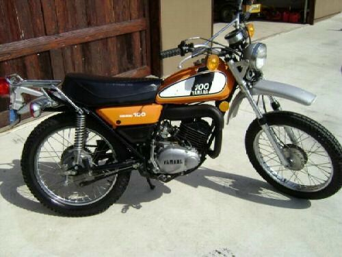 1974 Yamaha DT100 Enduro This picture was just like my