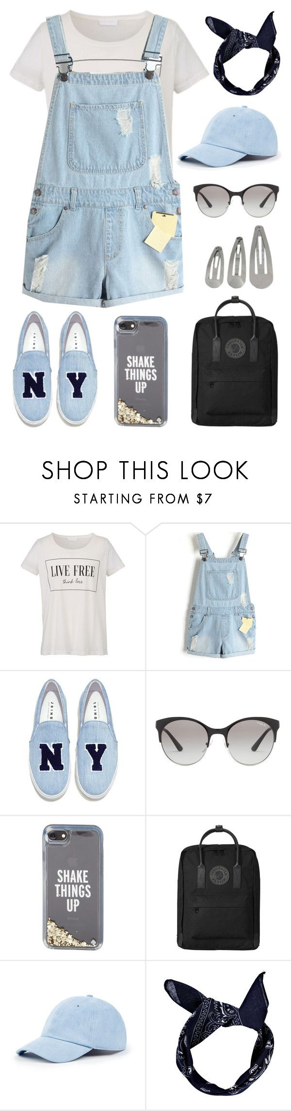 """Denim Shake"" by bambiwinchester ❤ liked on Polyvore featuring Joshua's, Vogue Eyewear, Kate Spade, Fjällräven, Sole Society and Boohoo"