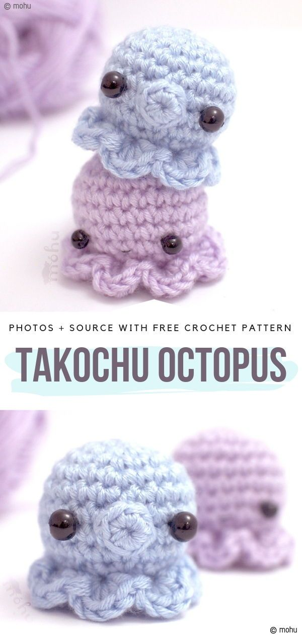 Underwater Crochet Ideas Free Patterns #crochetoctopus